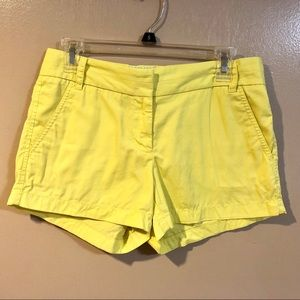 J Crew Bright Yellow Chino Shorts - EUC - Size 2